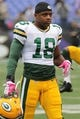 Oct 13, 2013; Baltimore, MD, USA; Green Bay Packers wide receiver Randall Cobb (18) warms up before the game against the Baltimore Ravens at M&T Bank Stadium. Mandatory Credit: Mitch Stringer-USA TODAY Sports