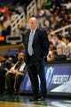 Oct 19, 2013; Greensboro, NC, USA; Charlotte Bobcats head coach Steve Clifford during the game against the Dallas Mavericks at the Greensboro Coliseum. Mavericks win 89-83. Mandatory Credit: Sam Sharpe-USA TODAY Sports