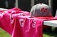 Oct 13, 2013; Tampa, FL, USA; Tampa Bay Buccaneers hat and pink towel on the bench for breast cancer awareness during the first quarter  against the Philadelphia Eagles against the Tampa Bay Buccaneers at Raymond James Stadium. Mandatory Credit: Kim Klement-USA TODAY Sports
