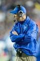Oct 25, 2013; Provo, UT, USA; Boise State Broncos head coach Chris Petersen during the second half against the Brigham Young Cougars at Lavell Edwards Stadium. Brigham Young won 37-20. Mandatory Credit: Russ Isabella-USA TODAY Sports