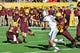 Oct 19, 2013; Tempe, AZ, USA; Arizona State Sun Devils kicker Zane Gonzalez (5) and quarterback Mike Bercovici (2) during the game the Washington Huskies at Sun Devil Stadium. Mandatory Credit: Matt Kartozian-USA TODAY Sports
