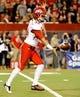 Oct 19, 2013; Tucson, AZ, USA; Utah Utes punter Tom Hackett (33) punts the ball during the third quarter against the Arizona Wildcats at Arizona Stadium. Arizona beat Utah 35-44. Mandatory Credit: Casey Sapio-USA TODAY Sports