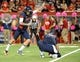 Oct 19, 2013; Tucson, AZ, USA; Arizona Wildcats kicker Jake Smith (86) attempts a field goal during the fourth quarter against the Utah Utes at Arizona Stadium. Arizona beat Utah 35-44. Mandatory Credit: Casey Sapio-USA TODAY Sports