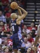 Oct 30, 2013; Houston, TX, USA; Charlotte Bobcats shooting guard Gerald Henderson (9) shoots during the second quarter against the Houston Rockets at Toyota Center. Mandatory Credit: Troy Taormina-USA TODAY Sports