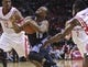 Oct 30, 2013; Houston, TX, USA; Charlotte Bobcats point guard Kemba Walker (15) drives the ball to the basket during the fourth quarter against the Houston Rockets at Toyota Center. The Rockets defeated the Bobcats 96-83. Mandatory Credit: Troy Taormina-USA TODAY Sports