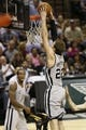 Oct 30, 2013; San Antonio, TX, USA; San Antonio Spurs forward Tiago Splitter (22) dunks during the second half against the Memphis Grizzlies at AT&T Center. The Spurs won 101-94. Mandatory Credit: Soobum Im-USA TODAY Sports