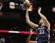 Oct 30, 2013; San Antonio, TX, USA; Memphis Grizzlies center Marc Gasol (33) shoots against the San Antonio Spurs during the first half at AT&T Center. Mandatory Credit: Soobum Im-USA TODAY Sports