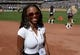 Sep 15, 2013; Oakland, CA, USA; Oakland Raiders staff member Serrita Teer attends the game against the Jacksonville Jaguars at O.co Coliseum. Mandatory Credit: Kirby Lee-USA TODAY Sports