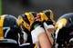 Oct 26, 2013; Iowa City, IA, USA; Iowa Hawkeyes gather prior to game against the Nothwestern Wildcats at Kinnick Stadium. Mandatory Credit: Byron Hetzler-USA TODAY Sports