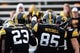 Oct 26, 2013; Iowa City, IA, USA; Iowa Hawkeyes players gather prior to game against the Nothwestern Wildcats at Kinnick Stadium. Mandatory Credit: Byron Hetzler-USA TODAY Sports