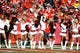 Oct 27, 2013; Kansas City, MO, USA; Kansas City Chiefs cheerleaders perform in the first half against the Cleveland Browns at Arrowhead Stadium. The Chiefs won the game 23-17. Mandatory Credit: John Rieger-USA TODAY Sports