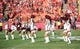Oct 27, 2013; Kansas City, MO, USA; Kansas City Chiefs cheerleaders perform for the crowd before the game against the Cleveland Browns at Arrowhead Stadium. The Chiefs won 23-17.  Mandatory Credit: Denny Medley-USA TODAY Sports