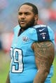 Oct 6, 2013; Nashville, TN, USA; Tennessee Titans defensive tackle Jurrell Casey (99) warms up before a game against the Kansas City Chiefs at LP Field. The Chiefs beat the Titans 26-17. Mandatory Credit: Don McPeak-USA TODAY Sports