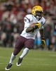 Oct 31, 2013; Pullman, WA, USA; Arizona State Sun Devils running back Marion Grice (1) carries the ball against the Washington State Cougars at Martin Stadium. Arizona State defeated Washington State 55-21. Mandatory Credit: Kirby Lee-USA TODAY Sports