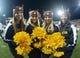 Oct 31, 2013; Pullman, WA, USA; Arizona State Sun Devils cheerleaders pose during the game against the Washington State Cougars at Martin Stadium. Arizona State defeated Washington State 55-21. Mandatory Credit: Kirby Lee-USA TODAY Sports