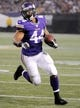 Aug 29, 2013; Minneapolis, MN, USA;  Minnesota Vikings running back Matt Asiata (44) rushes to the one yard line in the first quarter against the Tennessee Titans at the Metrodome.   Mandatory Credit: Marilyn Indahl-USA TODAY Sports