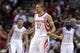 Nov 1, 2013; Houston, TX, USA; Houston Rockets shooting guard Francisco Garcia (32) reacts after a play during the fourth quarter against the Dallas Mavericks at Toyota Center. The Rockets defeated the Mavericks 113-105. Mandatory Credit: Troy Taormina-USA TODAY Sports