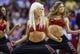 Nov 1, 2013; Houston, TX, USA; Houston Rockets dancers perform during a game against the Dallas Mavericks at Toyota Center. Mandatory Credit: Troy Taormina-USA TODAY Sports