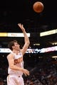 Nov 1, 2013; Phoenix, AZ, USA; Phoenix Suns guard Goran Dragic (1) lays up the ball against the Utah Jazz in the first half at US Airways Center. Mandatory Credit: Jennifer Stewart-USA TODAY Sports