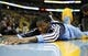 Nov 1, 2013; Denver, CO, USA; Denver Nuggets small forward Kenneth Faried (35) stretches out before the start of the game against the Portland Trail Blazers at the Pepsi Center. The Trail Blazers won 113-98. Mandatory Credit: Isaiah J. Downing-USA TODAY Sports