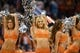 Nov 1, 2013; Phoenix, AZ, USA; Phoenix Suns cheerleaders perform in the game  against the Utah Jazz at US Airways Center. The Suns defeated the Jazz 87-84.  Mandatory Credit: Jennifer Stewart-USA TODAY Sports