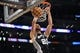 November 1, 2013; Los Angeles, CA, USA; San Antonio Spurs shooting guard Manu Ginobili (20) dunks to score a basket against the Los Angeles Lakers during the second half at Staples Center. Mandatory Credit: Gary A. Vasquez-USA TODAY Sports