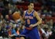 Oct 23, 2013; Green Bay, WI, USA; New York Knicks guard Pablo Prigioni (9) drives the ball down the floor as his team plays the Milwaukee Bucks at the Resch Center in Green Bay. The Bucks defeated the Knicks 105-95. Mandatory Credit: Mary Langenfeld-USA TODAY Sports