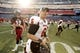 Nov 2, 2013; Foxborough, MA, USA; Northern Illinois Huskies quarterback Jordan Lynch (6)  heads off the field after defeating the Massachusetts Minutemen at Gillette Stadium. Northern Illinois defeated Massachusetts 63-19. Mandatory Credit: David Butler II-USA TODAY Sports