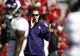 Nov 2, 2013; Lincoln, NE, USA; Northwestern Wildcats head coach Pat Fitzgerald watches his team before the game against the Nebraska Cornhuskers at Memorial Stadium. Mandatory Credit: Bruce Thorson-USA TODAY Sports