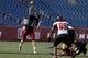 Nov 2, 2013; Foxborough, MA, USA; Massachusetts Minutemen quarterback Mike Wegzyn (11) throws a pass against the Northern Illinois Huskies during the second half at Gillette Stadium. Northern Illinois defeated Massachusetts 63-19. Mandatory Credit: David Butler II-USA TODAY Sports