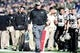 Nov 2, 2013; Colorado Springs, CO, USA; Army Black Knights head coach Rich Ellerson walks his sideline in the fourth quarter against the Air Force Falcons at Falcon Stadium. The Falcons defeated the Black Knights 42-28. Mandatory Credit: Ron Chenoy-USA TODAY Sports