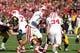 Nov 2, 2013; Iowa City, IA, USA;  Wisconsin Badgers quarterback Joel Stave (2) hands off the football against the Iowa Hawleyes at Kinnick Stadium.  Wisconsin beat Iowa 28-9.  Mandatory Credit: Reese Strickland-USA TODAY Sports