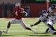 Nov 2, 2013; Lincoln, NE, USA; Nebraska Cornhuskers quarterback Tommy Armstrong Jr. (4) runs against the Northwestern Wildcats at Memorial Stadium. Mandatory Credit: Bruce Thorson-USA TODAY Sports
