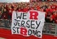 Nov 2, 2013; Piscataway, NJ, USA;  Rutgers Scarlet Knights fans celebrate after the game against the Temple Owls at High Points Solutions Stadium. Rutgers won 23-20. Mandatory Credit: Jim O'Connor-USA TODAY Sports