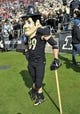 Nov 2, 2013; West Lafayette, IN, USA; Purdue Boilermakers mascot Purdue Pete in the first half against the Ohio State Buckeyes at Ross Ade Stadium. Mandatory Credit: Sandra Dukes-USA TODAY Sports