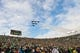 Nov 2, 2013; South Bend, IN, USA; A general view as the Blue Angels flight demonstration team performs a flyover above Notre Dame Stadium before the game between the Navy Midshipmen and the Notre Dame Fighting Irish. Mandatory Credit: Matt Cashore-USA TODAY Sports