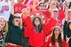 Nov 2, 2013; Raleigh, NC, USA; North Carolina State Wolfpack fans cheer a first quarter score against the North Carolina Tar Heels at Carter Finley Stadium. Mandatory Credit: Rob Kinnan-USA TODAY Sports