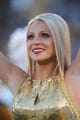 Nov 2, 2013; Columbia, MO, USA; A Missouri Tigers golden girl performs for the crowd before the game against the Tennessee Volunteers at Faurot Field. Missouri won 31-3. Mandatory Credit: Denny Medley-USA TODAY Sports