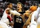 Nov 2, 2013; Portland, OR, USA; San Antonio Spurs center Tiago Splitter (22) drives to the basket on Portland Trail Blazers power forward LaMarcus Aldridge (12) during the first quarter of the game at  the Moda Center. Mandatory Credit: Steve Dykes-USA TODAY Sports
