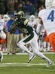 Nov 2, 2013; Fort Collins, CO, USA; Colorado State Rams wide receiver Rashard Higgins (82) runs against the Boise State Broncos during the first quarter at Hughes Stadium. The Broncos defeated the Rams 42-30. Mandatory Credit: Troy Babbitt-USA TODAY Sports