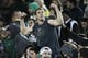 Nov 2, 2013; Fort Collins, CO, USA; A Colorado State Rams fan cheers against the Boise State Broncos at Hughes Stadium. The Broncos defeated the Rams 42-30. Mandatory Credit: Troy Babbitt-USA TODAY Sports