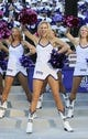 Nov 2, 2013; Fort Worth, TX, USA; TCU Horned Frogs showgirls perform during the game against the West Virginia Mountaineers at Amon G. Carter Stadium. West Virginia won 30-27. Mandatory Credit: Kevin Jairaj-USA TODAY Sports