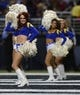 Nov 3, 2013; St. Louis, MO, USA; St. Louis Rams cheerleaders perform during the first half against the Tennessee Titans at the Edward Jones Dome. Tennessee defeated St. Louis 28-21. Mandatory Credit: Jeff Curry-USA TODAY Sports