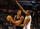 Nov 3, 2013; Oklahoma City, OK, USA; Phoenix Suns power forward Channing Frye (8) handles the ball against Oklahoma City Thunder small forward Kevin Durant (35) during the second quarter at Chesapeake Energy Arena. Mandatory Credit: Mark D. Smith-USA TODAY Sports