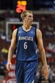 Oct 23, 2013; Philadelphia, PA, USA; Minnesota Timberwolves forward Robbie Hummel (6) during the third quarter against the Philadelphia 76ers at Wells Fargo Center. The Timberwolves defeated the Sixers 125-102. Mandatory Credit: Howard Smith-USA TODAY Sports