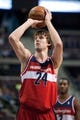 Oct 22, 2013; Auburn Hills, MI, USA; Washington Wizards small forward Jan Vesely (24) during the second quarter against the Detroit Pistons at The Palace of Auburn Hills. Mandatory Credit: Tim Fuller-USA TODAY Sports