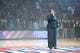 Oct 30, 2013; Auburn Hills, MI, USA; LaShell Renee sings the National Anthem before the game between the Detroit Pistons and the Washington Wizards at The Palace of Auburn Hills. Mandatory Credit: Tim Fuller-USA TODAY Sports