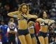 Nov 1, 2013; Memphis, TN, USA; Memphis Grizzlies dancers dance during a timeout against the Detroit Pistons at FedExForum. Memphis Grizzlies beat the Detroit Pistons 111 - 108. Mandatory Credit: Justin Ford-USA TODAY Sports