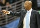 Nov 5, 2013; Denver, CO, USA; Denver Nuggets coach Brian Shaw reacts during the second half against the San Antonio Spurs at Pepsi Center. The Spurs won 102-94. Mandatory Credit: Chris Humphreys-USA TODAY Sports