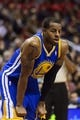 Nov 4, 2013; Philadelphia, PA, USA; Golden State Warriors guard Andre Iguodala (9) during the second quarter against the Philadelphia 76ers at Wells Fargo Center. The Warriors defeated the Sixers 110-90. Mandatory Credit: Howard Smith-USA TODAY Sports